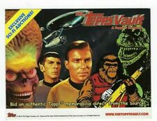 2012? TOPPS VAULT PROMO CARD Sci-Fi & Wacky Packages Auctions Postcard size ex+