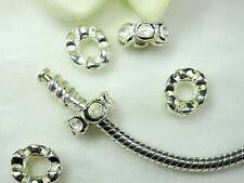 Silver Plated Screw On Type Safety Stopper Preventive Beads For European Jewelry