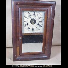Antique Seth Thomas 30 Hour Miniature Ogee Mantle Clock Round Movement