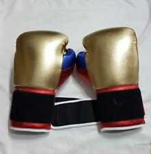 New Mexican Style pink gold Boxing Gloves any logo or Name, inspired by grant