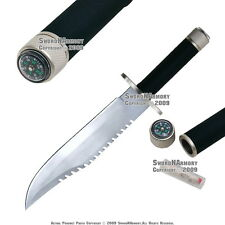 """14 """" Fixed Blade Combat Hunting Bowie Knife w/  Survival Kits Compass Needle"""