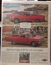 "1964 Chevrolet El Camino Classic Photo Ad! 10""x13.25"" Plastic On Cardboard"