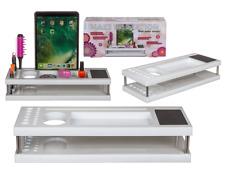 NEW KIDS PLASTIC MAKE UP STATION TABLET COMPUTER HOLDER GIRLS GIFT 40 x 16 CM