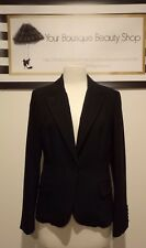 MNG MANGO OFFICE JACKET CASUAL BLAZER CORPORATE CAREER WOMEN BLACK FORMAL