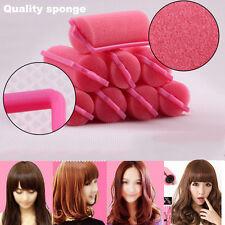 12Pcs Magic Cushion Sponge Foam Woman Hair Styling Rollers Curlers Twist Tool