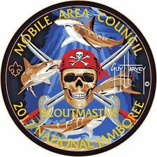 MOBILE AREA COUNCIL 2017 Jamboree OA 322 PIRATE SCOUTMASTER PATCH GUY HARVEY TUF