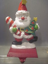 WHIMSICAL PAPO GIGO (SANTA CLAUS) WITH A HANDFUL OF GIFTS STOCKING HOLDER