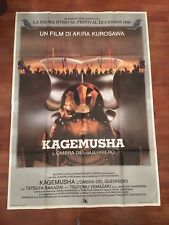 Manifesto,4F ,Kagemusha - L'ombra del guerriero Akira Kurosawa.Yamazaki: 1980 G
