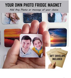 Photo magnets personalised Customised square metal photo fridge freezer magnets
