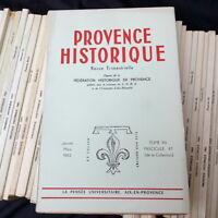 Lot de 51 revues Provence historique