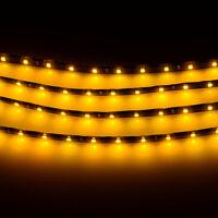 Yellow 4pcs 30CM/15 LED Car Motors Truck Flexible Strip Light Waterproof 12V
