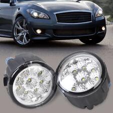 2pcs Right Left Fog Lamp Light 9-LED Daytime Light DRL fit for Nissan Infiniti