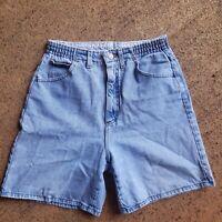 Vintage Lee Jeans Shorts High Rise Mom Waisted Elastic Waist 28 Inch* Light Blue