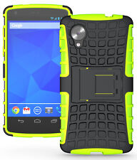 NEON LIME GREEN GRENADE TPU SKIN HARD CASE COVER STAND FOR LG/GOOGLE NEXUS 5