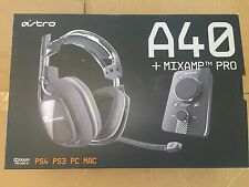 ASTRO Gaming - A40 - Dark Grey w/ MixAmp Pro - PS4/PS3/PC/Mac
