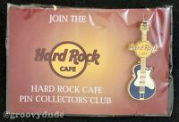 HRCPCC Hard Rock Cafe Pin Mini US Only Icon Blue Guitar On Card HRC Series New