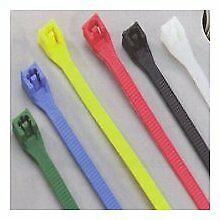 "CALTERM FLUORESCENT BLUE CABLE TIES, 8"" LENGTH, 20 PIECE PKG., PART #73071"