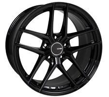18x8 Enkei TY5 5x114.3 +40 Gloss Black Rims Fits Veloster Mazda Speed 3