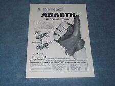 "1960 Abarth Scarico Vintage ad in The Lead !"" Sprite Fiat 600"