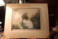 Hand Signed Numbered French Artist Simone Haumont Watercolor Matted Etching