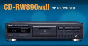 TEAC CD-RW890MKII MK2 MASTERIZZATORE CD CD-RW DA TAVOLO BLACK ex demo