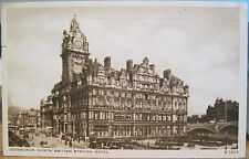 Postcard Edinburgh Scotland North British Station Hotel Rr 1938 Empire Ex pmk
