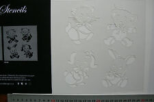 Stencil 4 x BABY ANIMALS - Approx 85 x 65mm Each - C89 Sweet Baby Collection L1