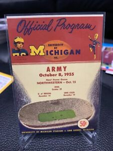TK Legacy Michigan Wolverines OFFICIAL PROGRAM 1955 vs ARMY # 1/250 SP PC33