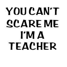 you cant scare me im a teacher car teacher school student vinyl  decal
