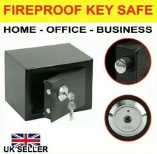 & 4.6L SOLID STEEL SAFE HEAVY DUTY FIREPROOF HOME OFFICE MONEY VALUABLES 65:21