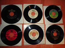 LOT OF SIX 45'S  DEAN, FRANCIS, BAES, THE MURMAIDS,MOODY BLUES , CHARLES