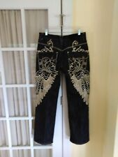 Delf Imperious Jeans 32 32 Dark Wash Gold Wings EUC