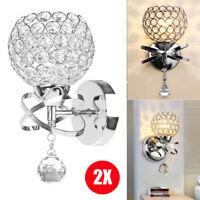LED Modern Crystal Wall Lamp Sconce Light Bedroom Loft Hallway Lighting Fixtures