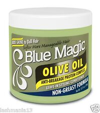 SOFTER MORE MANAGEABLE HAIR BLUE MAGIC OLIVE OIL (non-greasy formula) 13.75oz