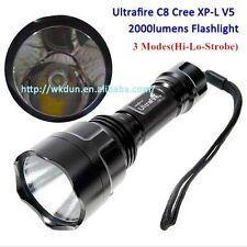 UltraFire C8 Cree XP-L V5 1A 3 Modes (H-L-S) 2000 Lumen Led Flashlight XPL Torch