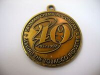 Vintage Keychain Pendant: Eastman Chemical Company 40 Years Tobacco Industry