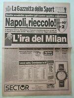 GAZZETTA DELLO SPORT 23-4-1990 SCUDETTO BOLOGNA-NAPOLI 2-4 VERONA-MILAN 2-1
