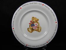 "Retroneu ""America Land That I Love"" 11"" Anna Claire Dinner Plate #4518, EUC"