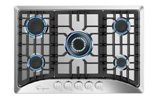 "Empava 30"" Gas Stove Cooktop with 5 Italy Sabaf Sealed Burners NG/LPG Convertibl"