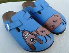 BIRKI'S BIRKENSTOCK Woodby DOG Blue Clogs Shoes Sandals Toddler US 3.5--4  (35)