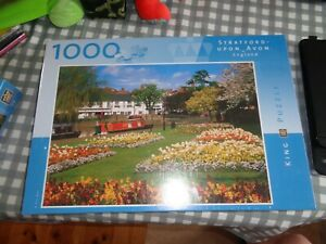 1000 piece jigsaw puzzle, Stratford-Upon-Avon, England, King Puzzle. NEW SEALED.