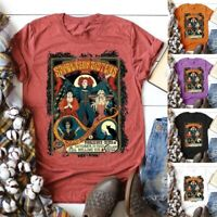 Women's Fashion Vintage Sanderson Sisters Funny Hocus Pocus Halloween Fall Tops