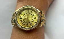 Lady Katie Pop Watch Quartz Ladies Women Teen  Leopard Print 2 Piece Strap Band