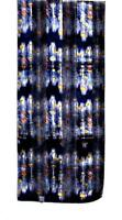 SCARF Yellow White Orange Blue On Navy Background BEAUTIFUL PEACOCK FEATHERS