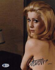 CATHERINE DENEUVE Signed Autographed 8x10 Photo Actress Model SEXY! Beckett BAS