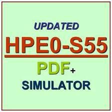 HP Delta Designing HPE Server Solutions Test HPE0-S55 Exam QA SIM PDF+Simulator