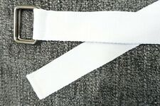 STRIPED DOUBLE SQUARE WHITE WEB 34 BELT MENS NEW