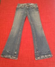 AZZURE Women's Love Life Blue Denim Jeans Size 35W 33L