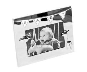 Bilderrahmen Baby Fotorahmen Gravur Taufgeschenk Geschenk Geburt Taufe Silber