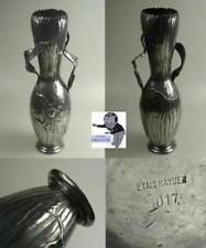 Kayserzinn Jugendstil Vase mit Papageientulpen Model 4017 um 1895 #